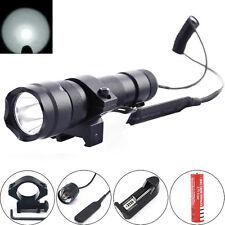 Ultrafire 502B 2000LM CREE T6 LED 20mm Mount Tactical Flashlight Hunting Light