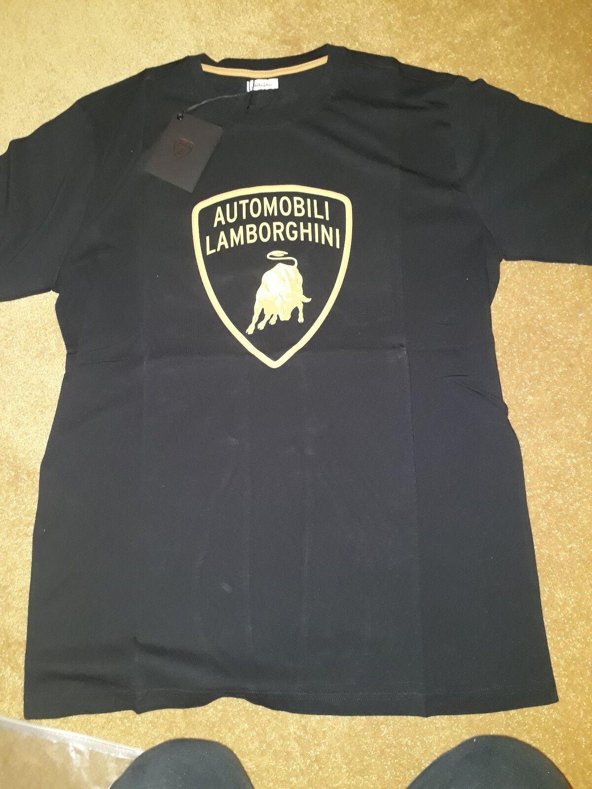 Lamborghini Shield Logo T-shirt, t shirt Large mens