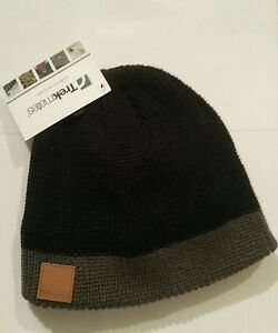 96e9023a8b9 Image is loading Trekmates-Cooper-Chunky-Beanie-Hat-Black-Grey