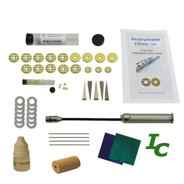Open Hole Flute Pad Kit for Selmer flutes w Instructions Grommet Tool!