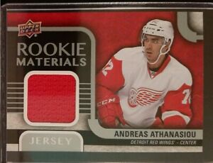 2015-2016-Upper-Deck-Andreas-Athanasiou-Rookie-Materials-RM-AA-Hockey-Card