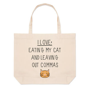 Cat I Grand Out Nourriture Fourre tout My Sac Plage Et Love Leaving Virgules tpgp6qw