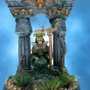Painted-RAFM-Miniatures-Grave-Lich-and-Throne