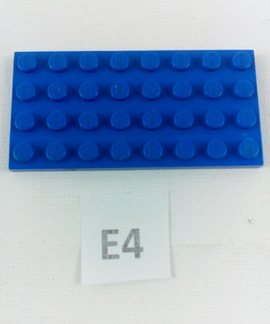 LEGO BLUE BASE/PLATE/BOARD BRICK 4x8 PIN ID 3035 CITY-STAR WARS