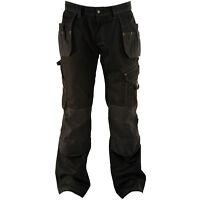"DEWALT LOW RISE WORK TROUSERS BLACK DWC17-001 WAIST SIZE 32""-42""  LEG 29""-33"""