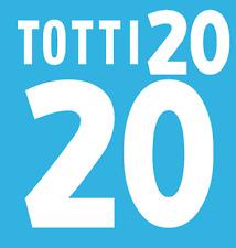 Italy Totti Nameset 2000 Shirt Soccer Number Letter Heat Print Football Home