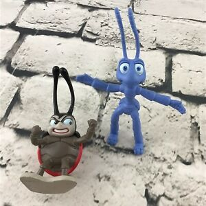 Disney-Pixar-A-Bugs-Life-Figures-Bendy-Flick-And-Francis-Lot-Of-2