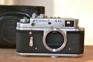 ZORKI-4K-Body-Leica-bases-rangefinder-camera-USSR-amp-Original-Leather-Case