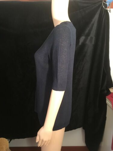 M Ann Short Navy Top Over Sleeve Blue Slip Taylor Size g774qwz