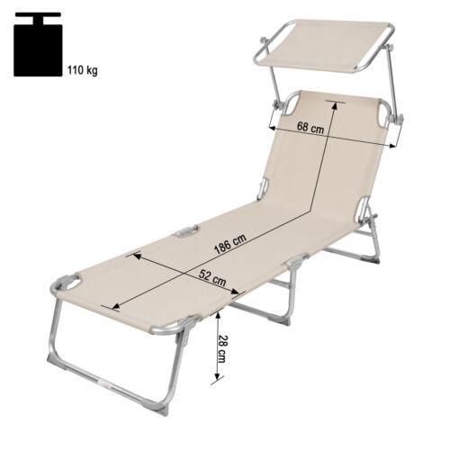 pare soleil beige Chaise longue de jardin pliante transat bain de soleil