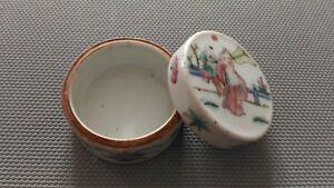 Boite En Céramique Ronde « Décor Asiatique» En Etat. Ldgeguuf-08010348-401980773