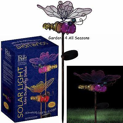BLUE /& PINK TULIP Flower Solar Light Garden Stake Creekwood Regal Art /& Gift Box
