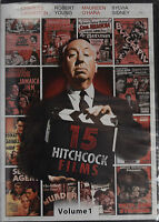 15 Hitchcock Films, Volume 1, Films 1-10 (dvd, 2012) Alfred Hitchcock, Free Ship