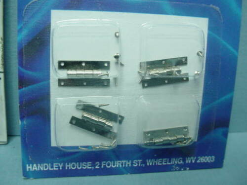 Dollhouse Miniature H 4 Satin Nickle Finish #Cla05569 1//12th Hinge wi Nails