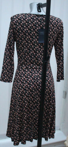 M/&S Collection Sizes 10 16 18 Printed Viscose Jersey Skater Dress Bnwt