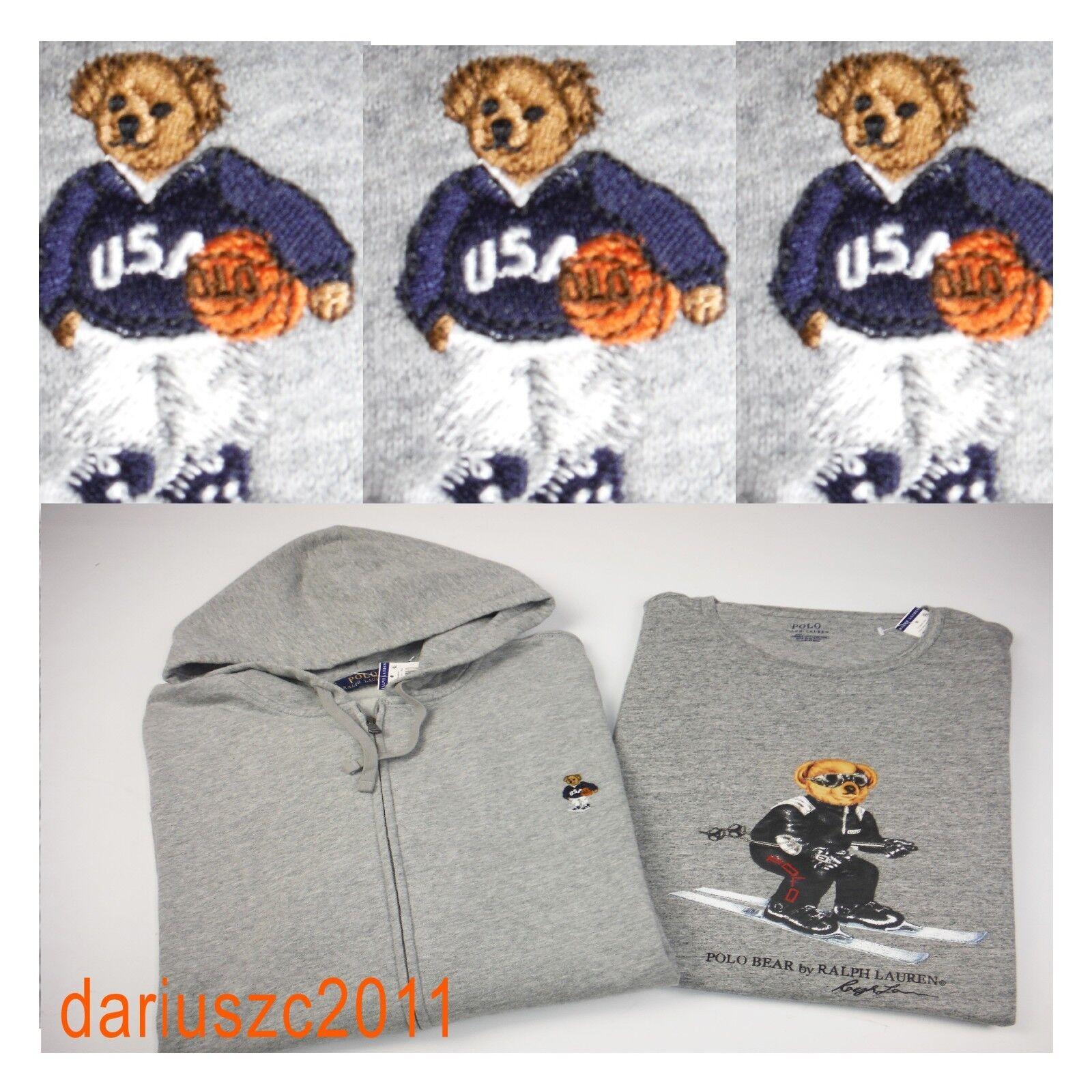 Ralph Lauren Big&Tall &Ski  Hoodie & T-shirt  Bear Basketball &Ski Big&Tall Gris Size 4XB 390c0b