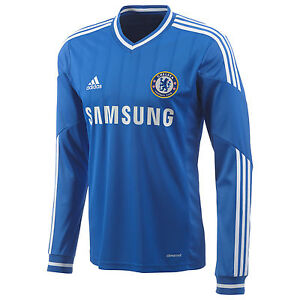 competitive price bf313 25f97 Details about ADIDAS CHELSEA FC LONG SLEEVE HOME JERSEY 2013/14