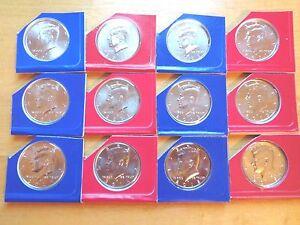Mint Rolls 2013 2014 2015 2016 P+D Kennedy Half Dollar Set ~ From Original U.S