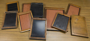 10 Antique Wooden Plate & Sheet Film Holders 8x10, Full Plate, Half Plate, 5x7