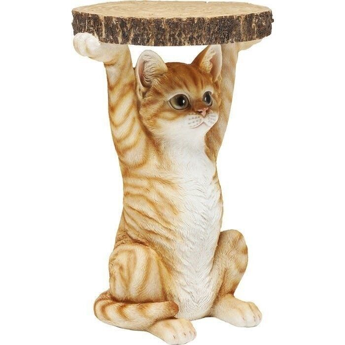Resina de Mesa Lateral De Gato Animal Animal Animal Mesita de noche Mesita 81957 Tabla De Animales 9c98f6