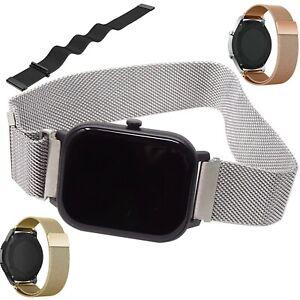 Cinturino-bracciale-polso-20mm-MAGLIA-MILANESE-magnetico-Huami-AmazFit-GTS-MMM7