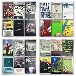 BUILD UR OWN Cassette Tape Lot - Punk - Bad Religion, NOFX, The Clash + More!