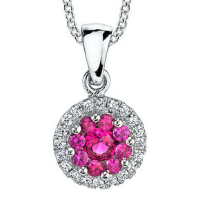 Sterling-Silver-Ruby-Cluster-CZ-pendant-Necklace-set-with-Pave-cubic-zirconias