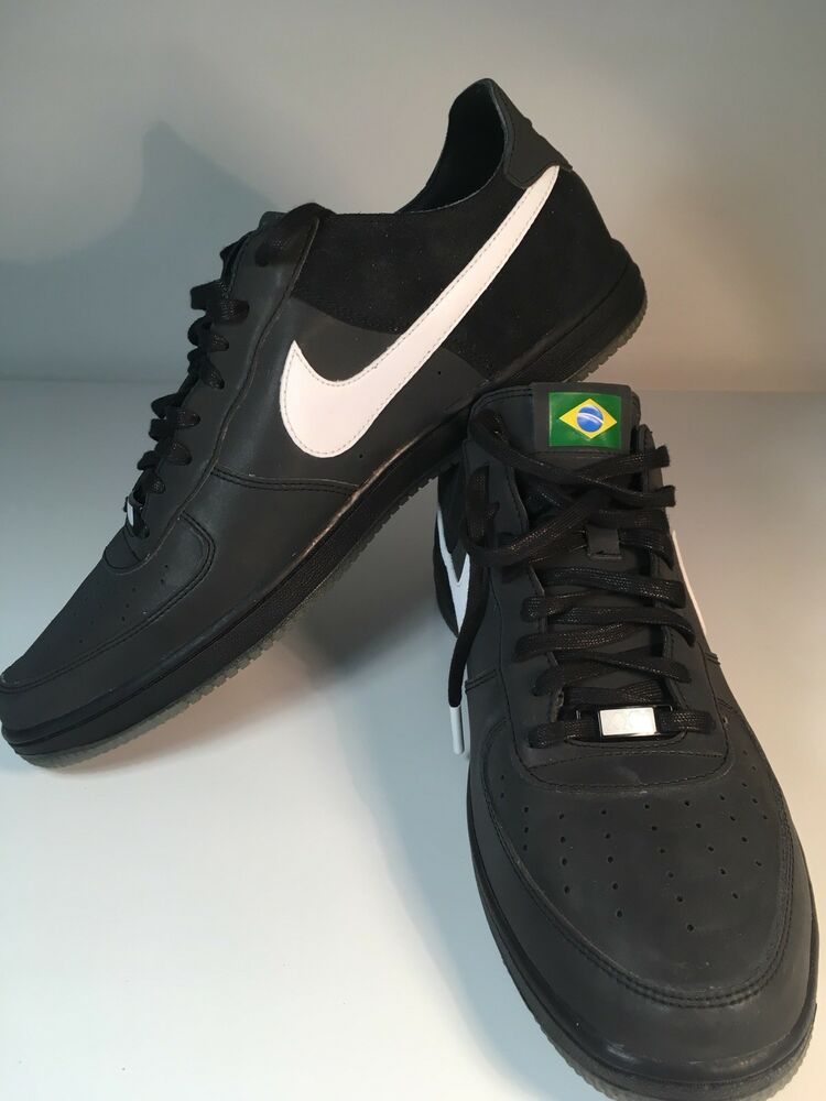 Super Rare Nike Air Force 1 Baskets Brésil Brésilien 2012 équipe olympique Taille 9.5-