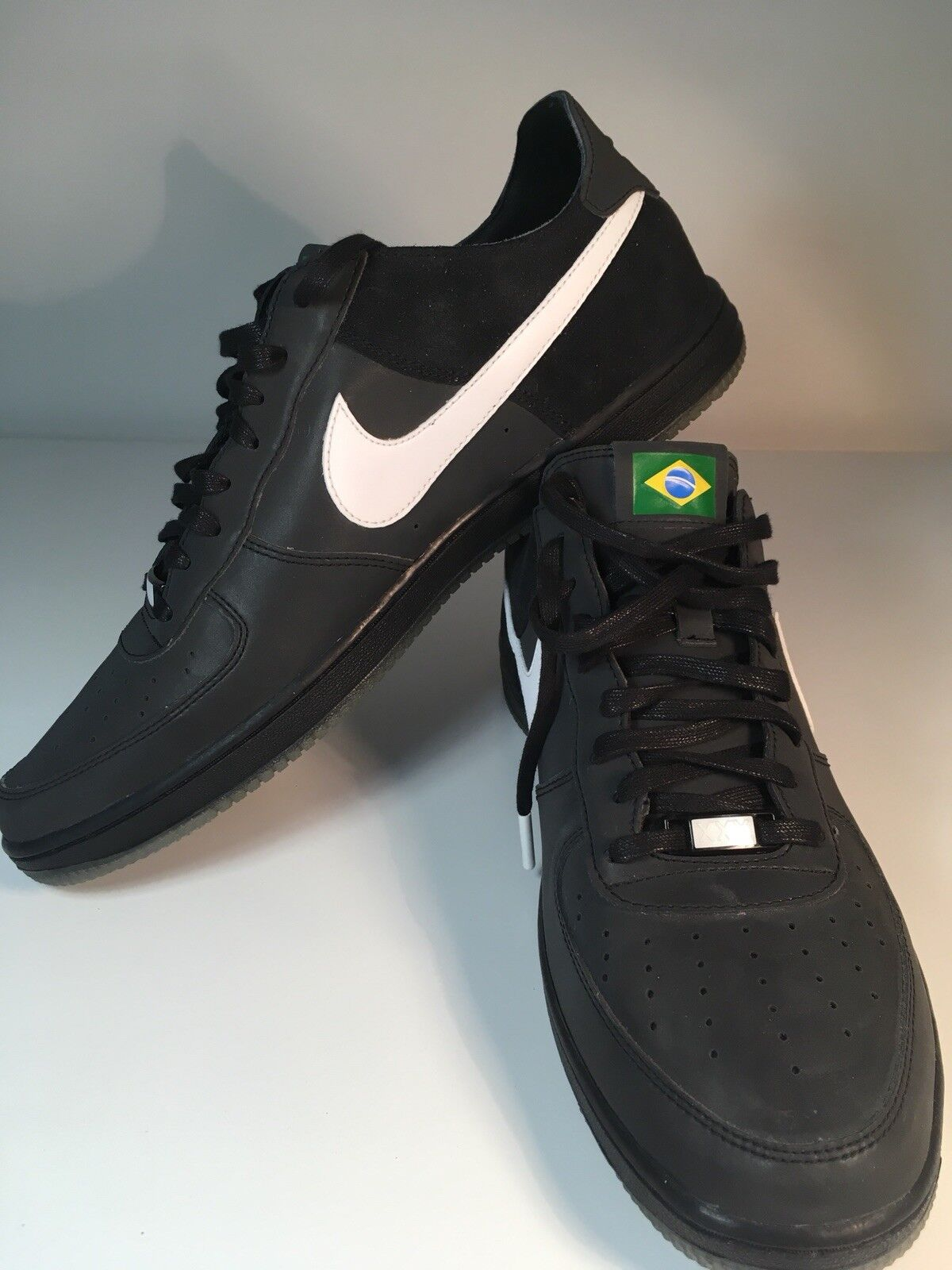 Super RARE Nike Air Force 1 trainers Brazil Brazilian 2012 olympic team size 9.5