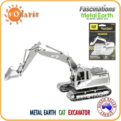 Fascinations Metal Earth Caterpillar EXCAVATOR 3D Laser Cut Earth Moving Vehicle