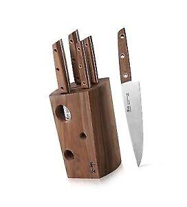 Knife Block Cangshan W Series 59960 6pcs German Steel Set Walnut