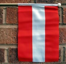 "AUSTRIA HAND WAVING FLAG medium 9"" X 6"" wooden pole flags Austrian Vienna"