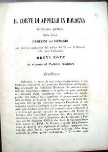 1869-RARA-CAUSA-LEGALE-SUI-PALCHI-DEL-TEATRO-DI-FERRARA-SOCIETA-039-DELLA-BARCACCIA