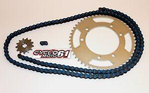 Kit-Chaine-Renforce-14x53-Bleu-Derbi-Senda-50-R-X-treme-2000-a-2011