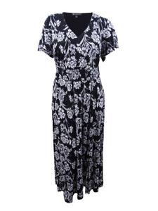 INC-International-Concepts-Women-039-s-Plus-Flutter-Sleeve-Maxi-Dress