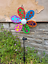 Solar-Powered-Light-Up-Windmill-Holographic-Outdoor-Garden-Multicoloured-Decor thumbnail 5