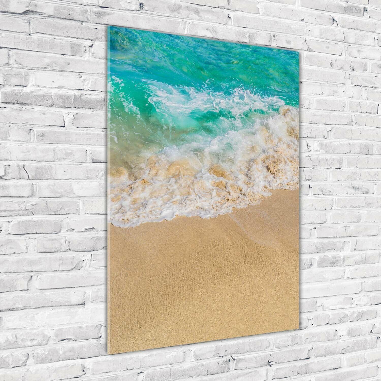Wand-Bild Kunstdruck aus Acryl-Glas Hochformat 70x100 Strand Meer