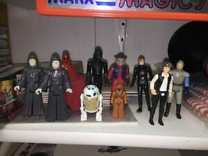 Vintage-Star-Wars-Action-Figure-LOT-of-10-Darth-Vader-Luke-Jawa-R2D2