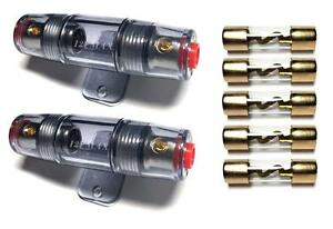 s l300 2 pack sale 4 or 8 gauge awg agu inline fuse holder 5 pack of 80
