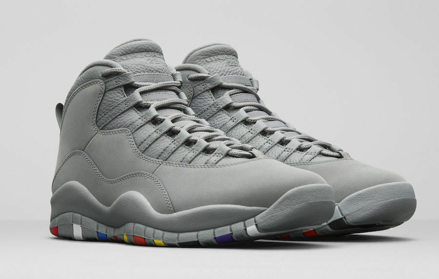 2018 Air Jordan 10 X Retro Cool Grey Size 12.5. 310805-022. multi-color.