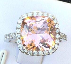 promise ring Light pink diamond ring engagement ring 5ct cushion cut light pink simulated diamond ring wedding ring set women/'s ring