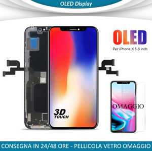 DISPLAY-OLED-IPHONE-X-VETRO-FRAME-LCD-COMPLETO-APPLE-IPHONE-10-COME-L-039-ORIGINALE