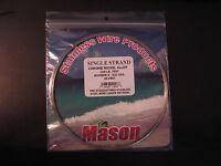 Mason Single Strand Chrome Nickel Alloy 105 Lb 25 Feet Stainless Steel Leader 9