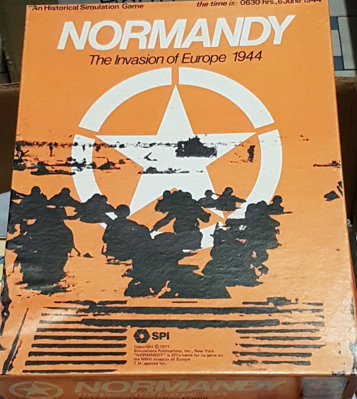 NORMADY 1944 SPI Wargame - unpunched - 1971 italian rules