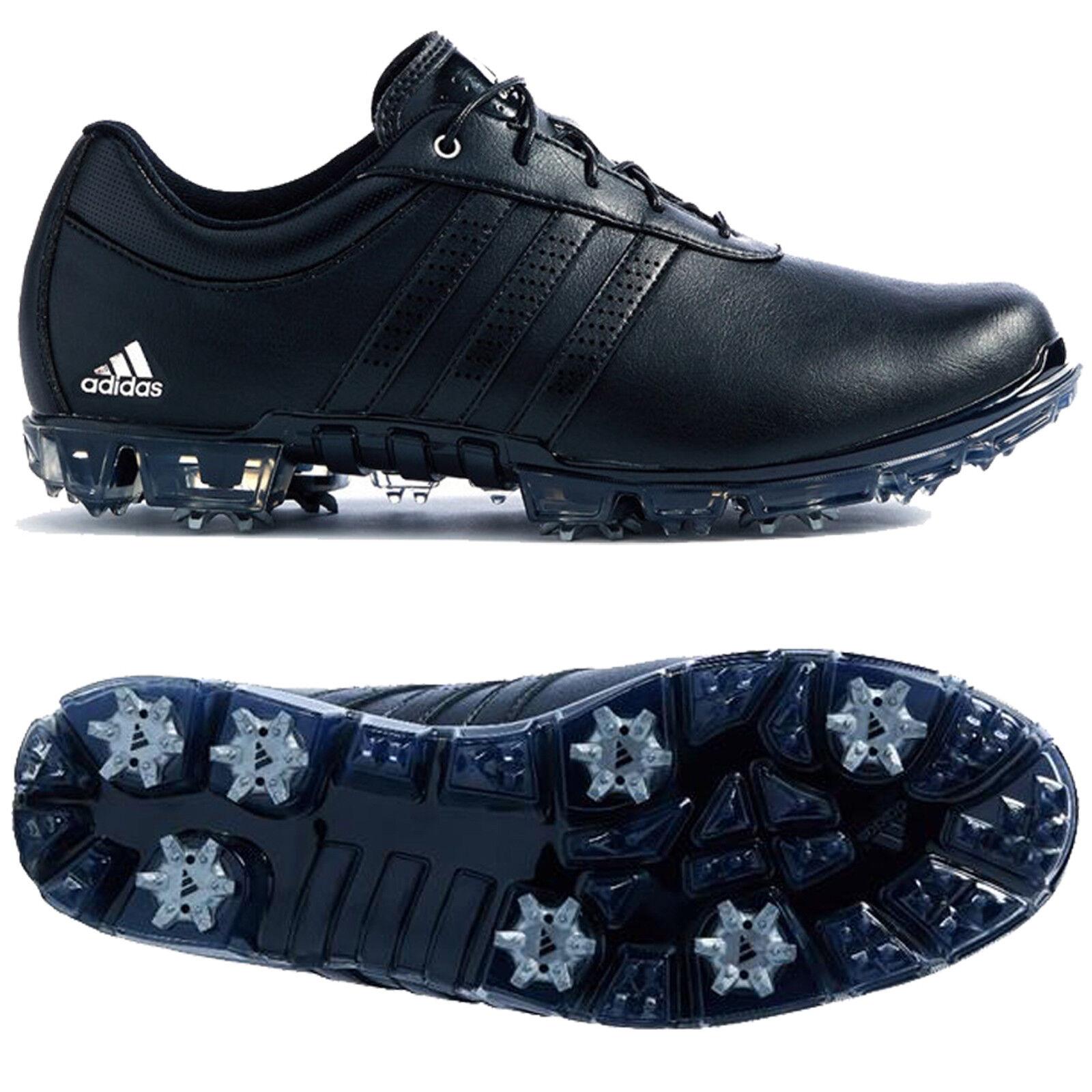 Adidas Mens 2018 Adipure Flex Spiked Waterproof Golf Schuhes schwarz