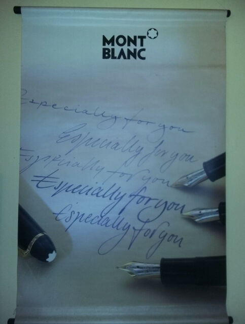 Affiche KAKEMONO poster publicitaire - stylos MONT-BLANC -