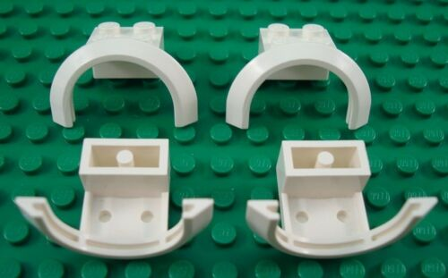 LEGO Lot of 4 White Arch Brick Car Mudguard Pieces