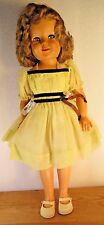 """VINTAGE IDEAL ST-19 SHIRLEY TEMPLE DOLL Tall 18"""" W/ 3 Dresses, Shoes +FREE GIFT+"""
