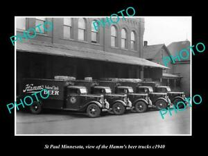 OLD-LARGE-HISTORIC-PHOTO-OF-ST-PAUL-MINNESOTA-THE-HAMM-BREWERY-TRUCK-c1940-2