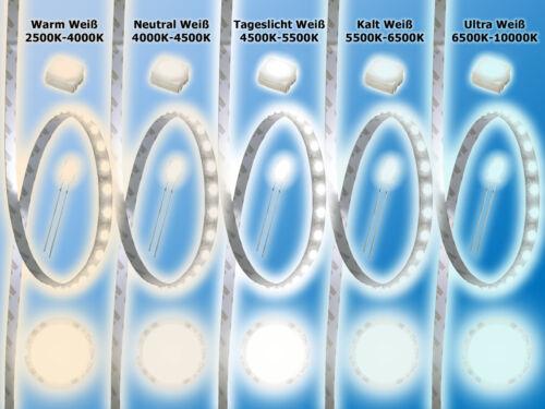 50x LED piombato3mma freddo bianco6000k11000-16500mcd